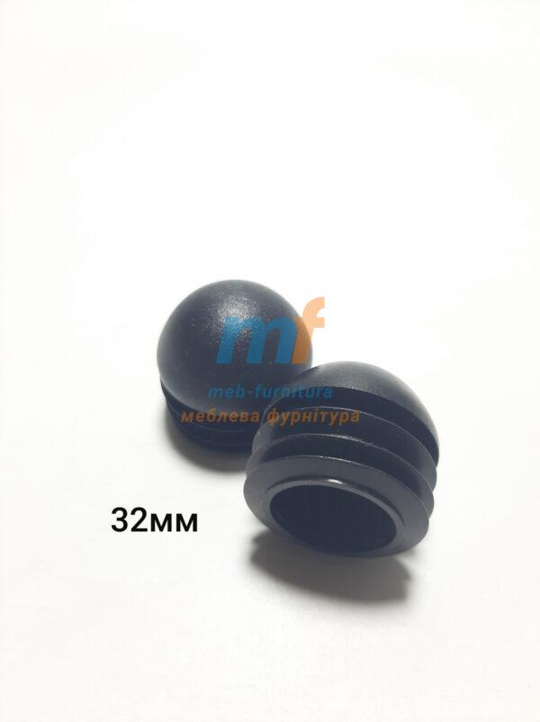 Заглушки для труб круглые D32 сфера