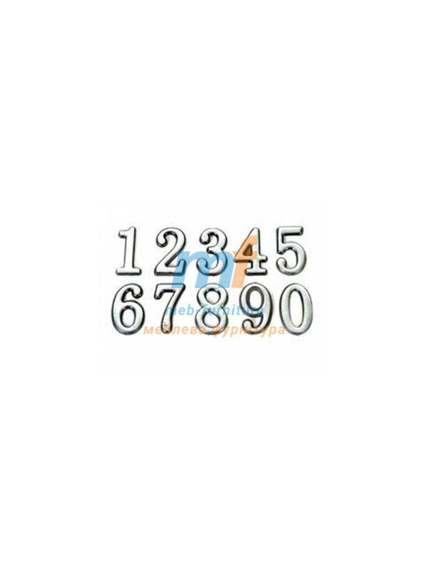 Цифры на липучке маленькие серебро