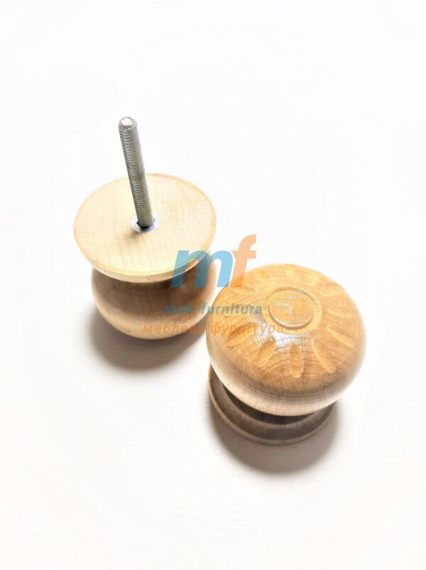 Ручка деревянная круглая светлая