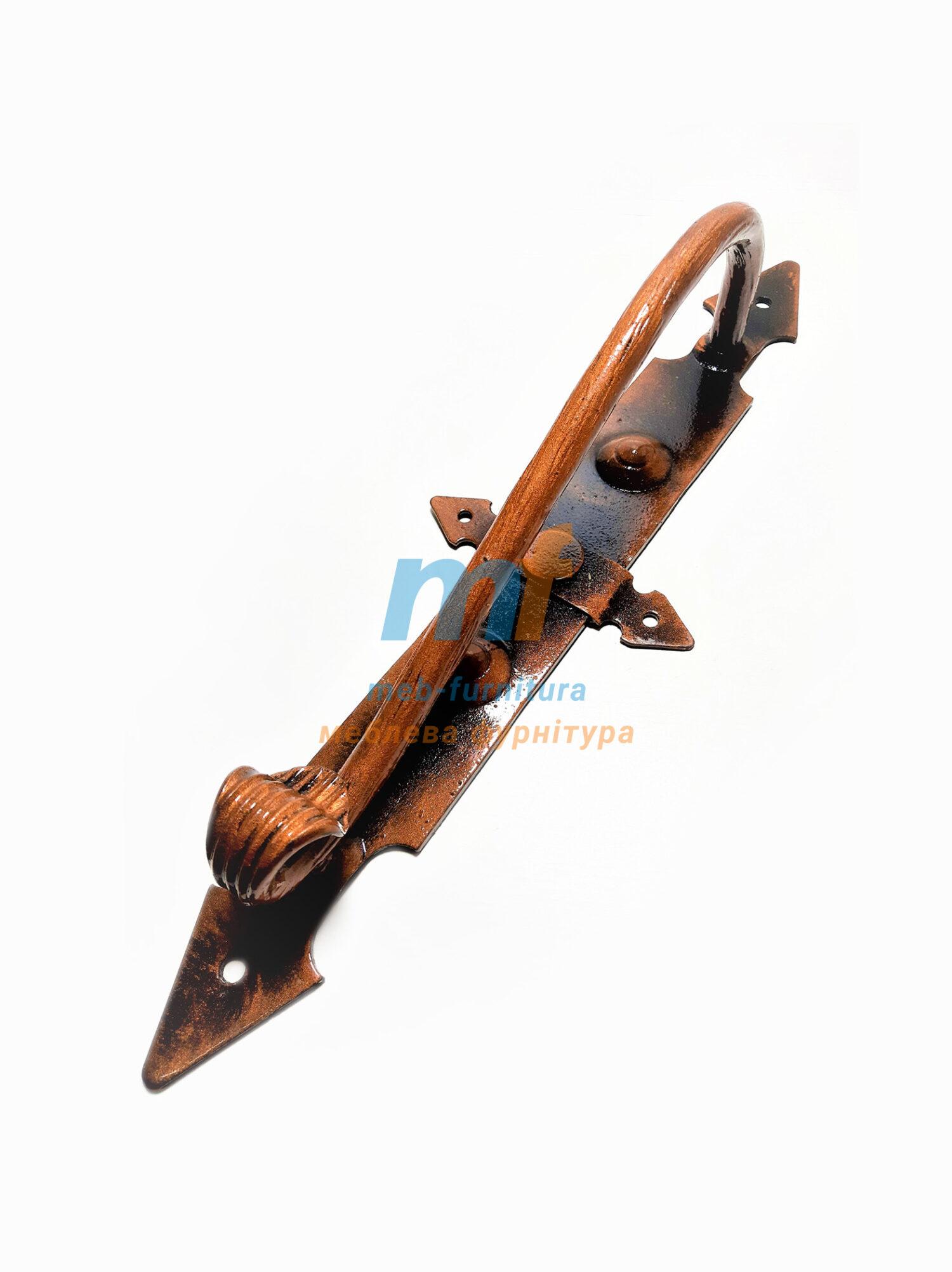 Ручка кованая Лоза большая медная
