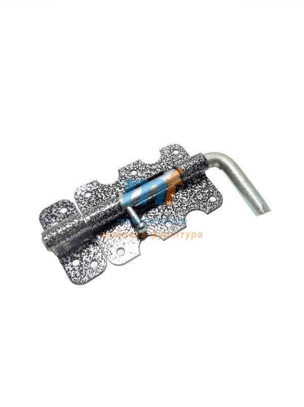 Шпингалет №100 с ручкой серый