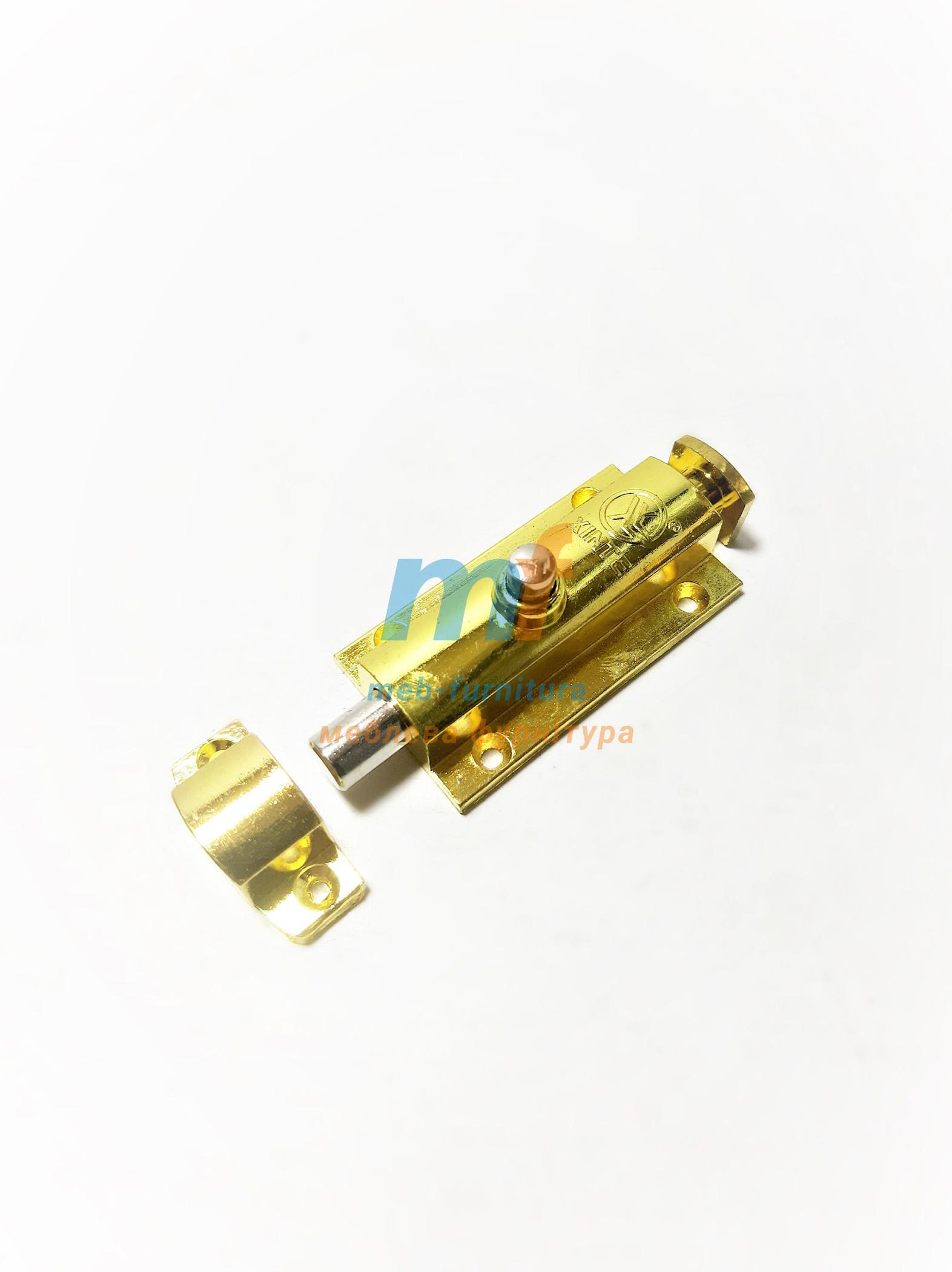 Шпингалет-кнопка Большой Золото