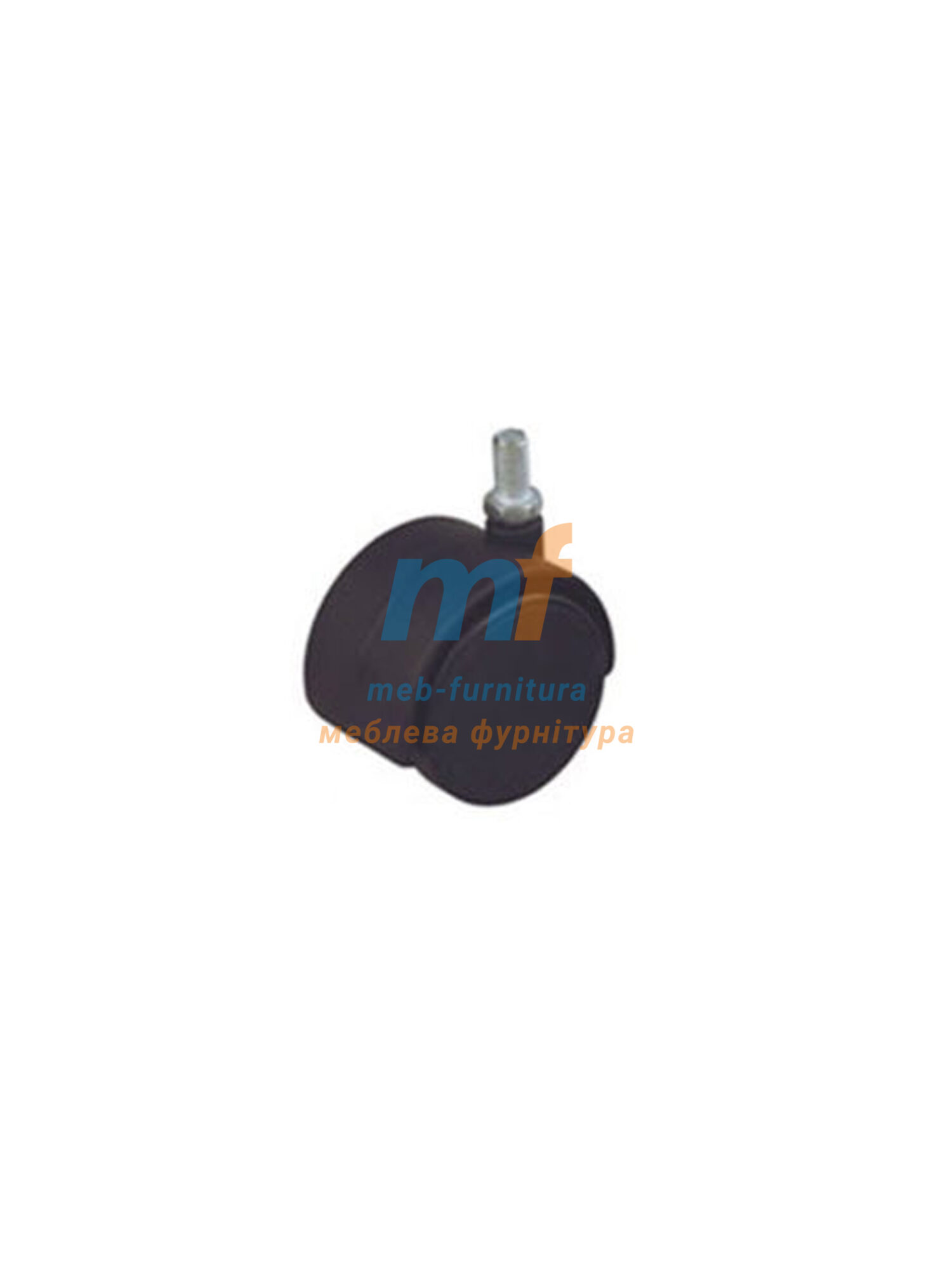 Колесо пластик с резьбой М6 50мм (3-019)