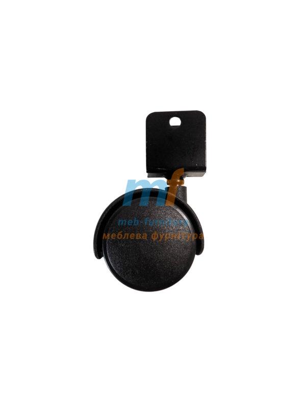 Колесо пластик со скобой под ДСП 16 мм поворотное 40мм (3-019)