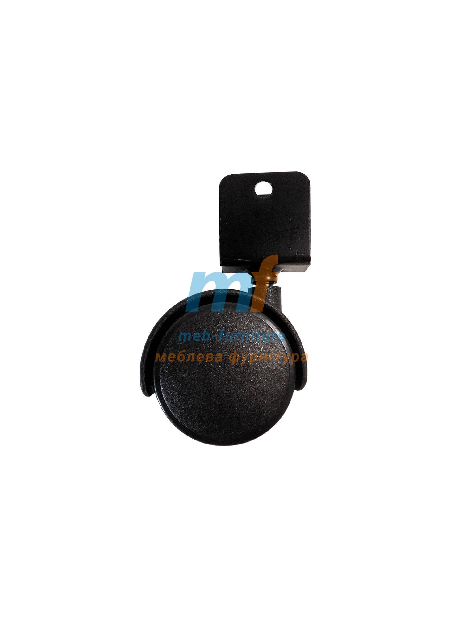 Колесо пластик со скобой под ДСП 16 мм поворотное 50мм (3-019)