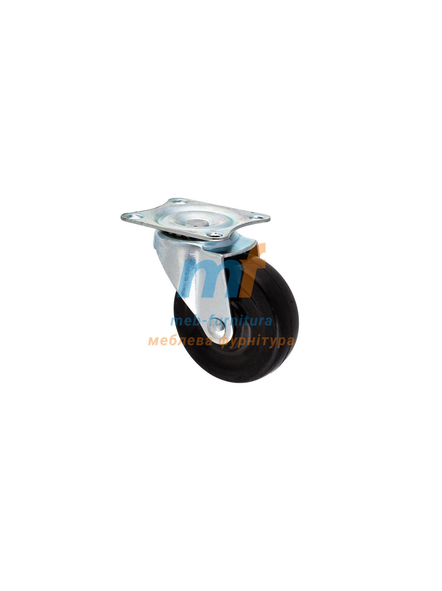 Колесо резина на платформе 75мм (3-004)