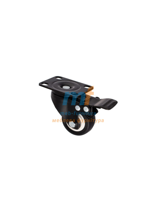 Колесо резина на платформе с фиксатором 50мм (3-001)