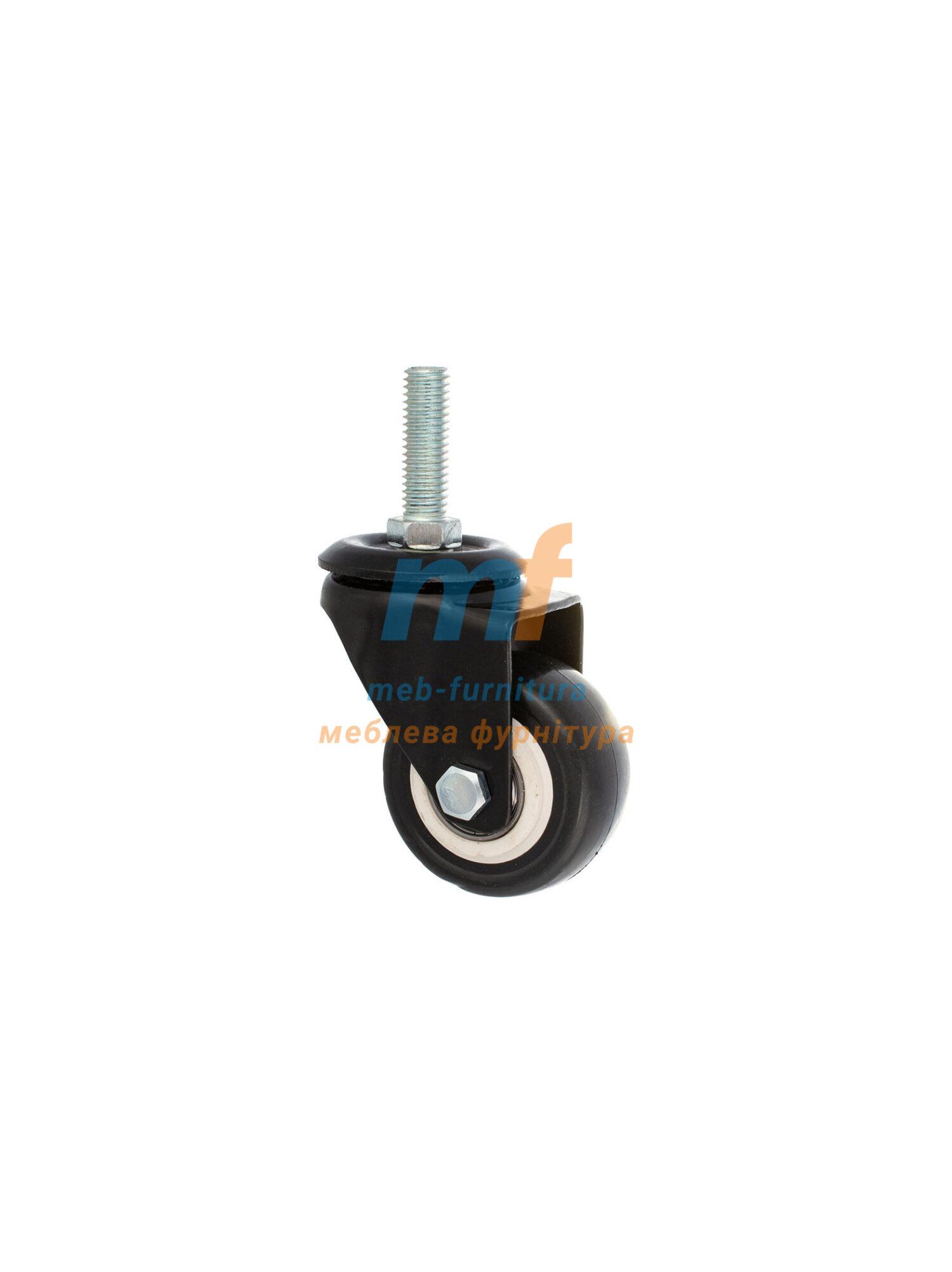 Колесо резина с резьбой М10 50мм (3-001)