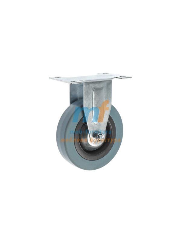 Колесо резина серый не поворотное 100мм (3-011)