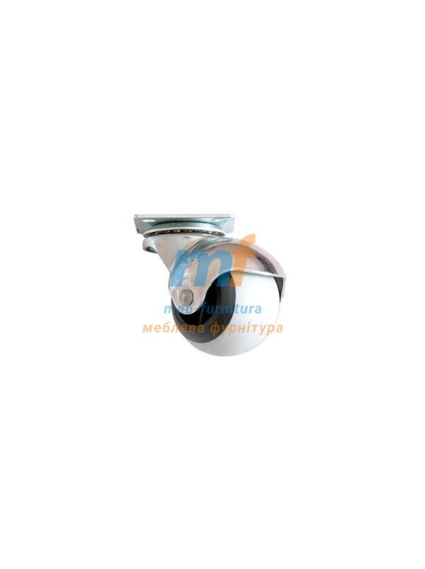 Колесо шар резина на платформе 50мм (3-017)