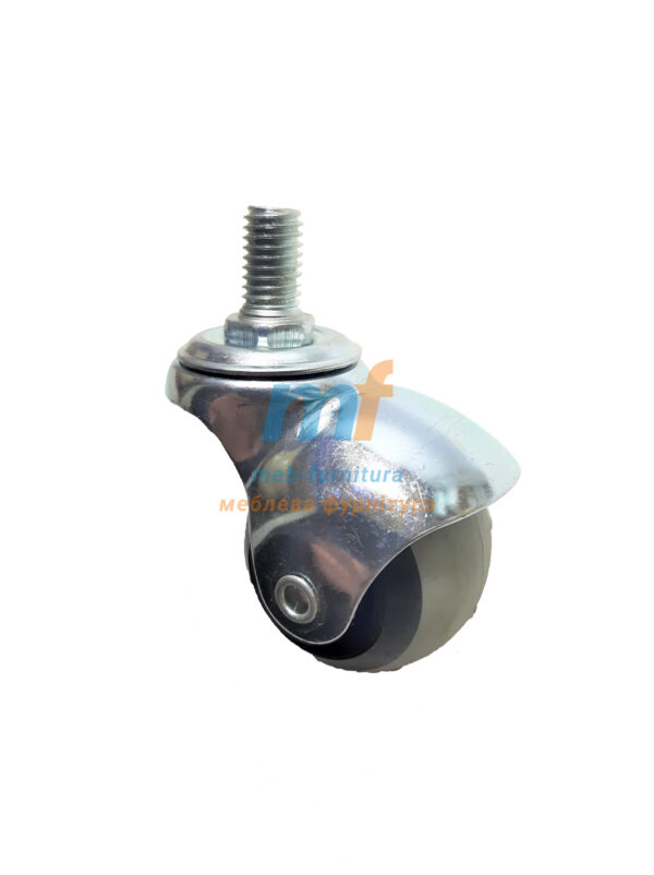 Колесо шар резина с резьбой м8 50мм (3-017)