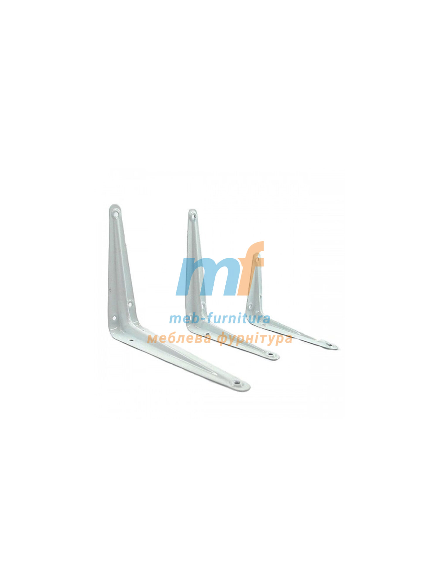 Консоль-полкодержатель металлический (12х14) 300х350мм белый Китай