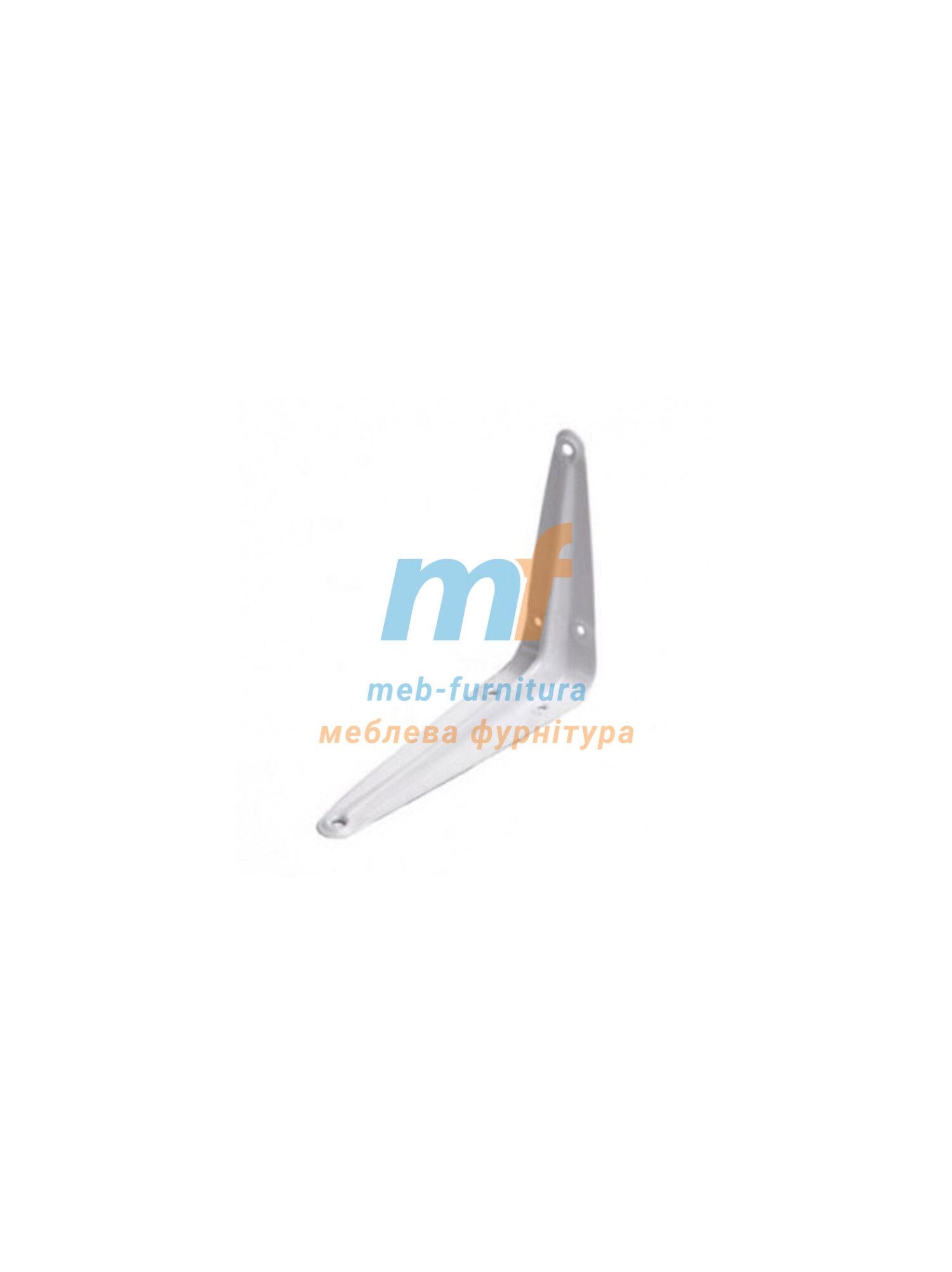Консоль-полкодержатель металлический (3х4) 75х100мм бельй Польша