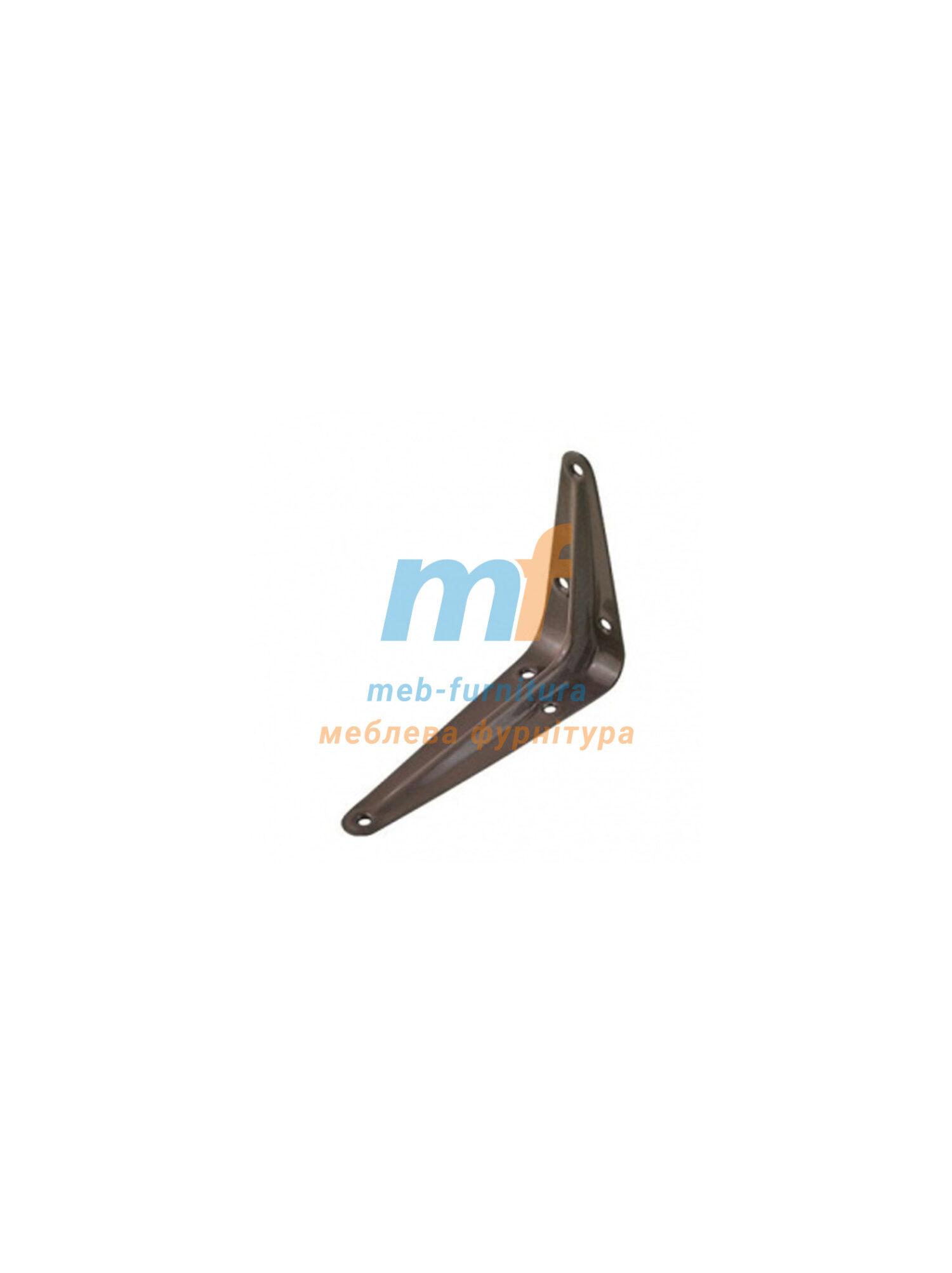 Консоль-полкодержатель металлический (3х4) 75х100мм коричневый Польша