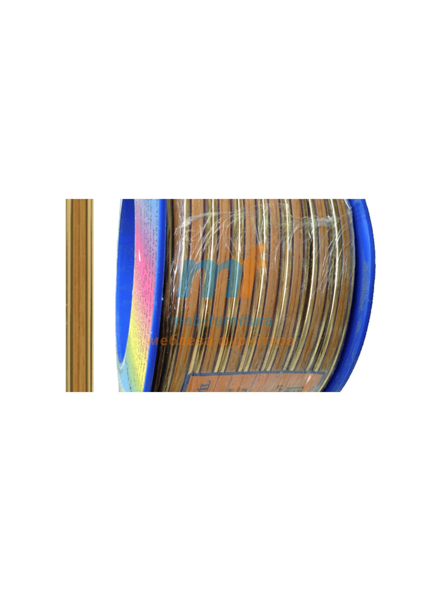 Молдинг декоративный мебельный самоклейка гибкий М010 золото+дерево ( 50 метров)