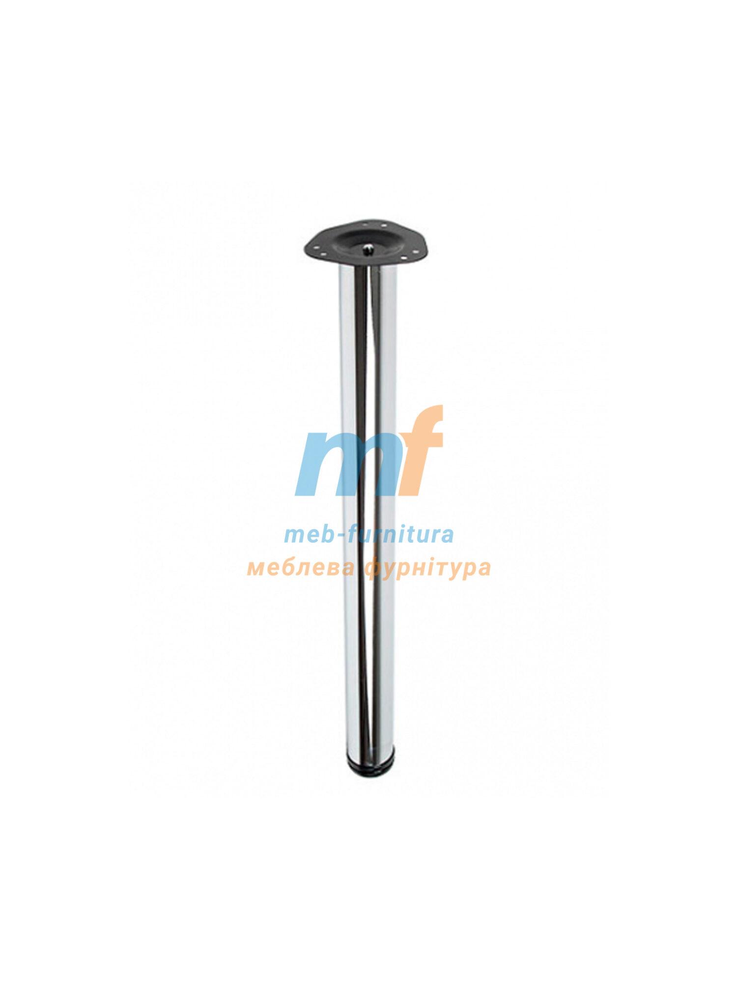 Опора для столов регулирующая 60х810мм хром