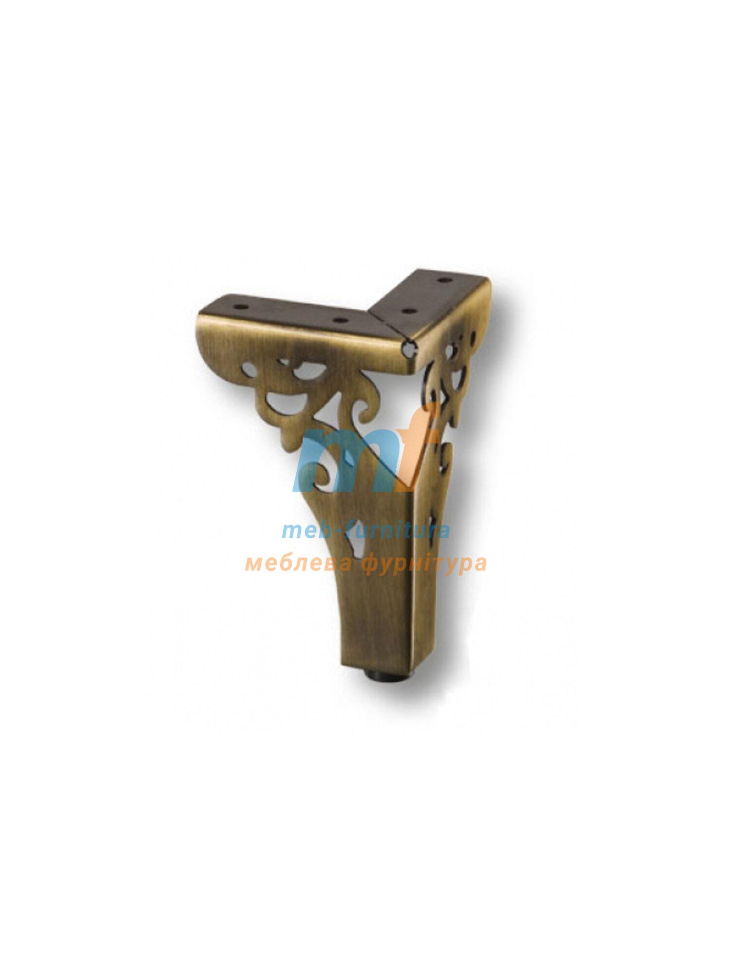 Опора мебельная декоративная 100мм бронза Турция