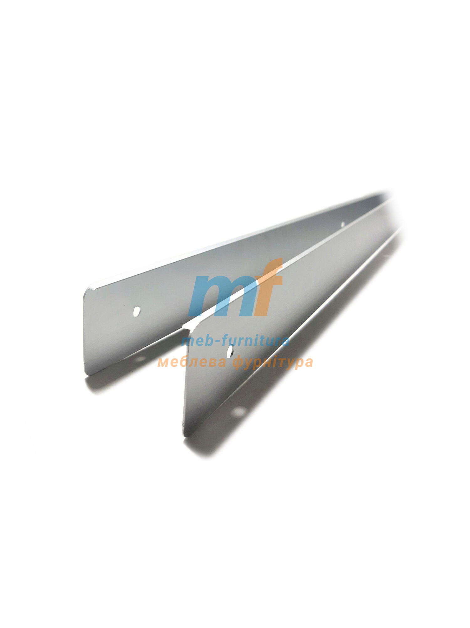 Планка для столешницы - торцевая L+R 38 мм R6 U серебро