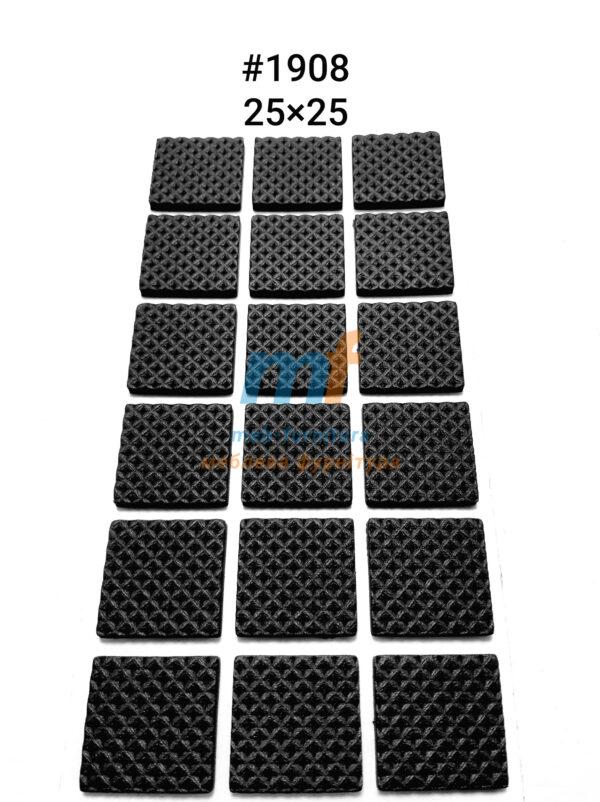 Резиновые накладки на ножки мебели 2.5х2.5см