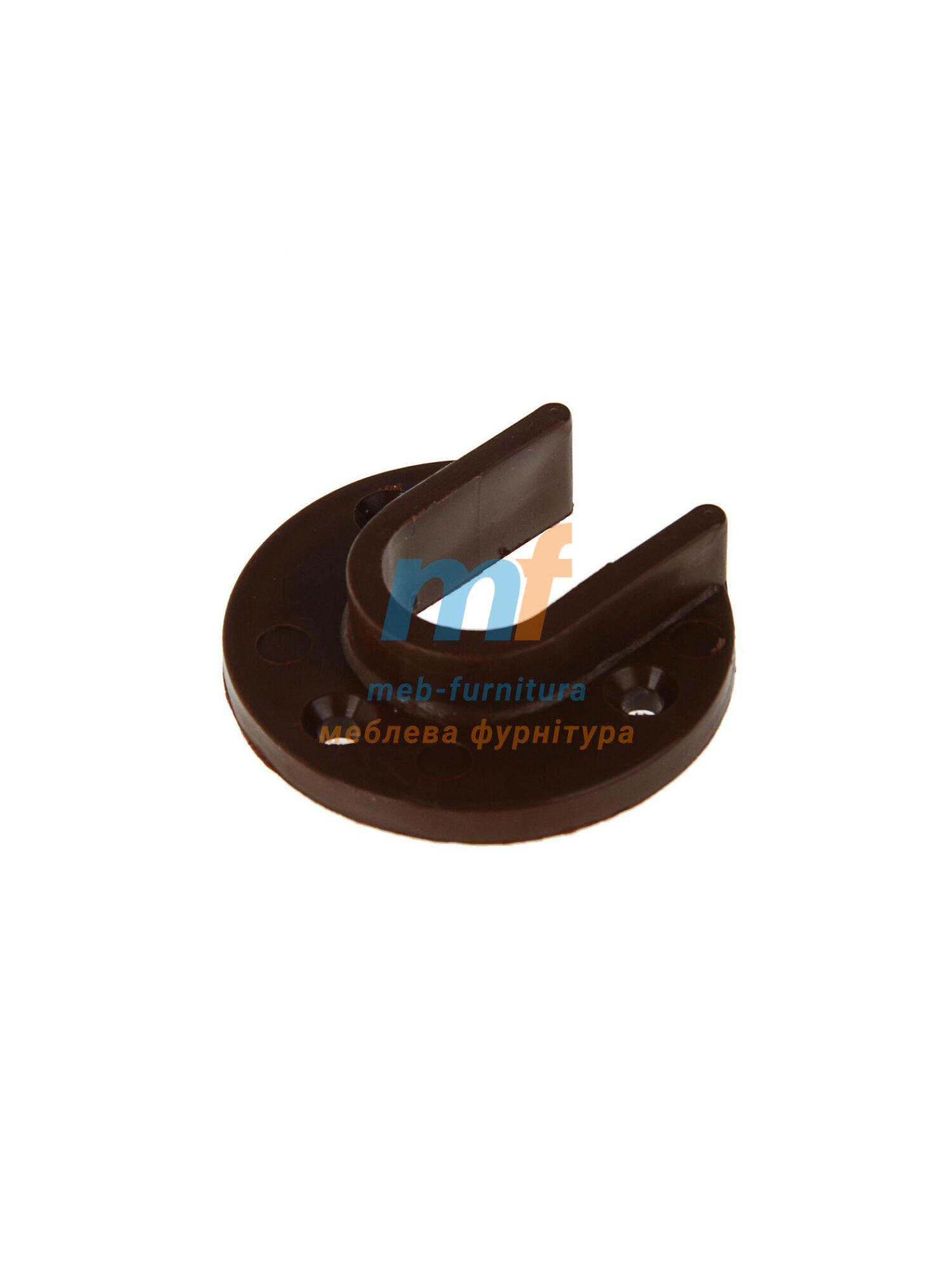 Штангодержатель пластик для трубы 25мм коричневый 2шт.
