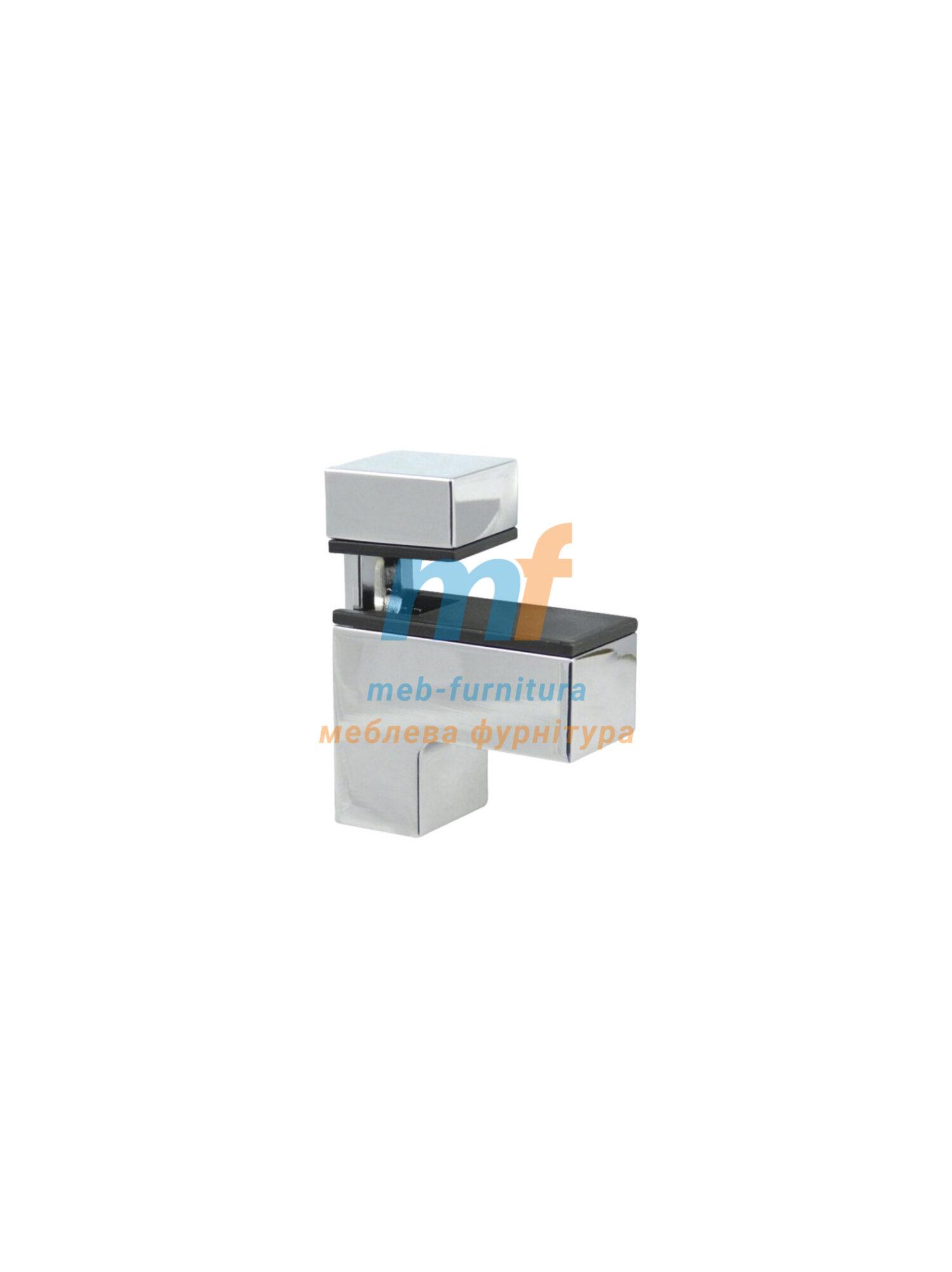 Стеклополка квадратный 70мм хром Турция