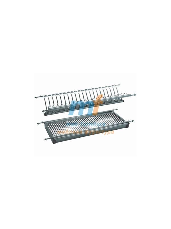 Сушилка для посуды нерж. штамп 600 мм (1 нерж под.)