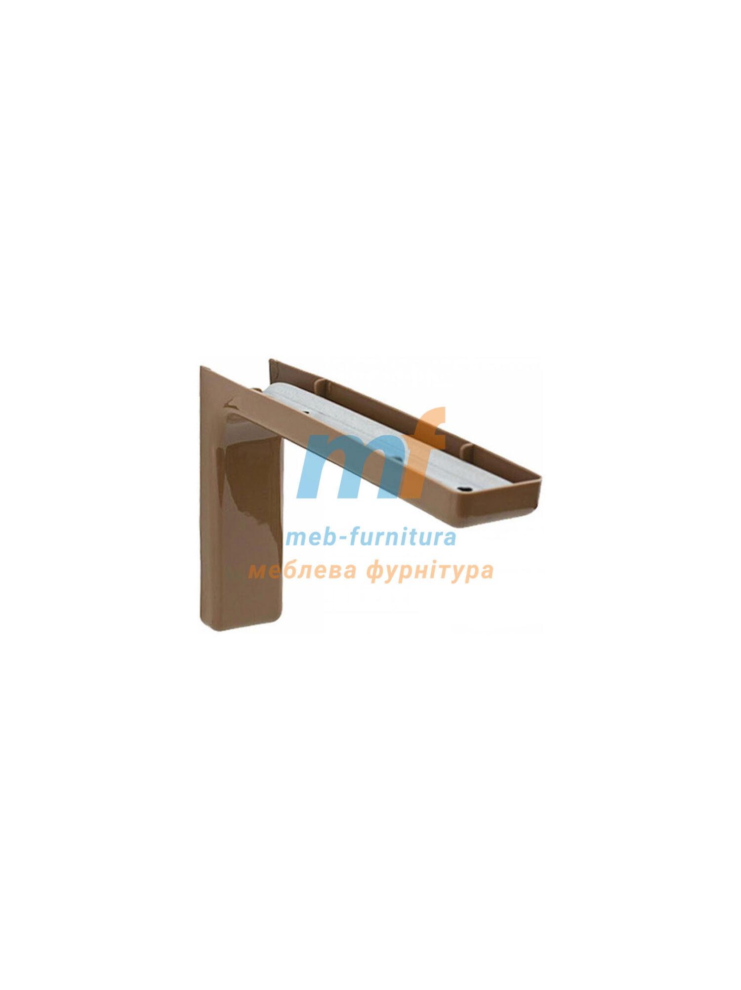Уголок металлический с декоративной накладкой коричневый 180мм