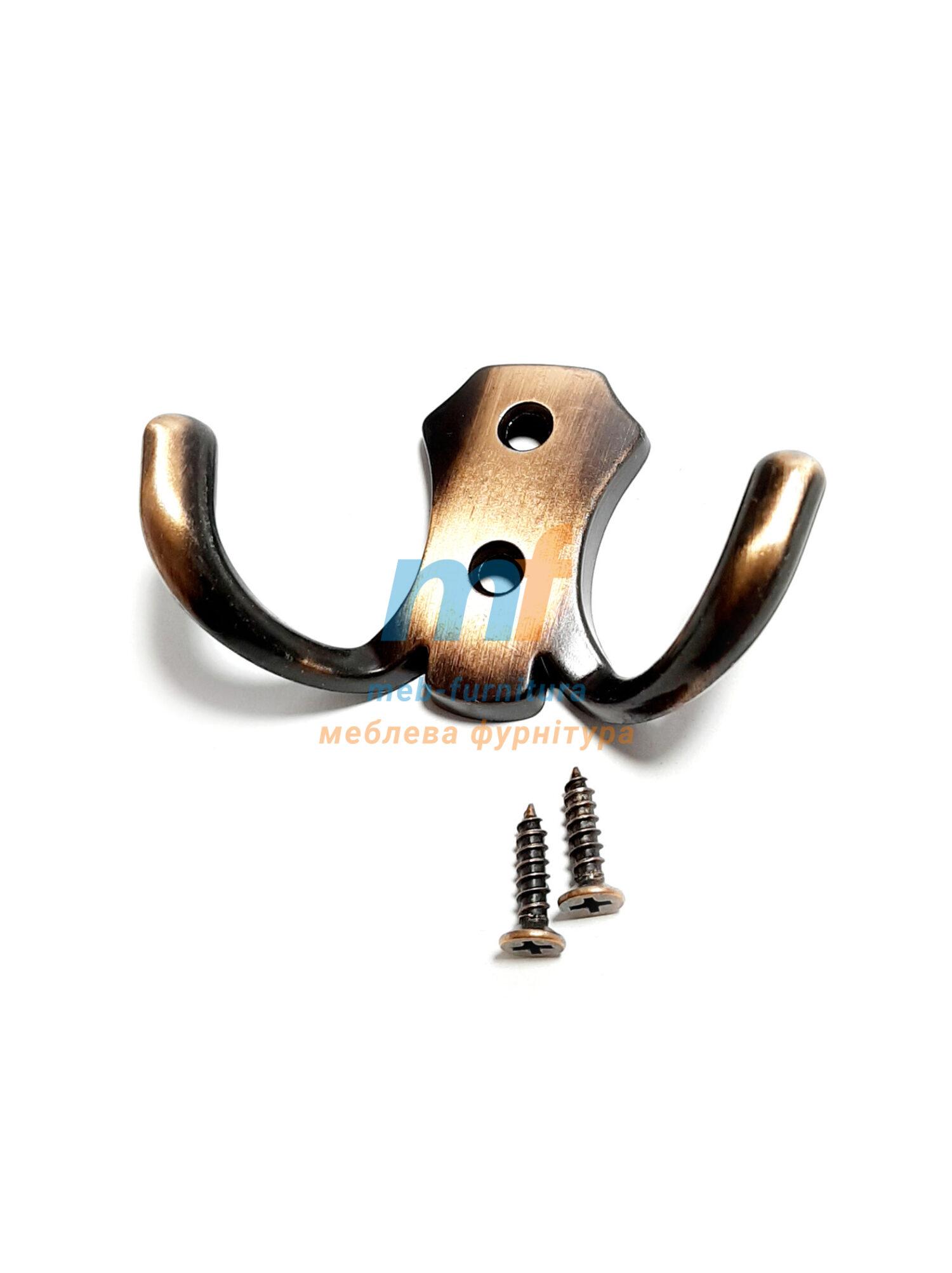 Крючок 0302 (люкс) - коричневый