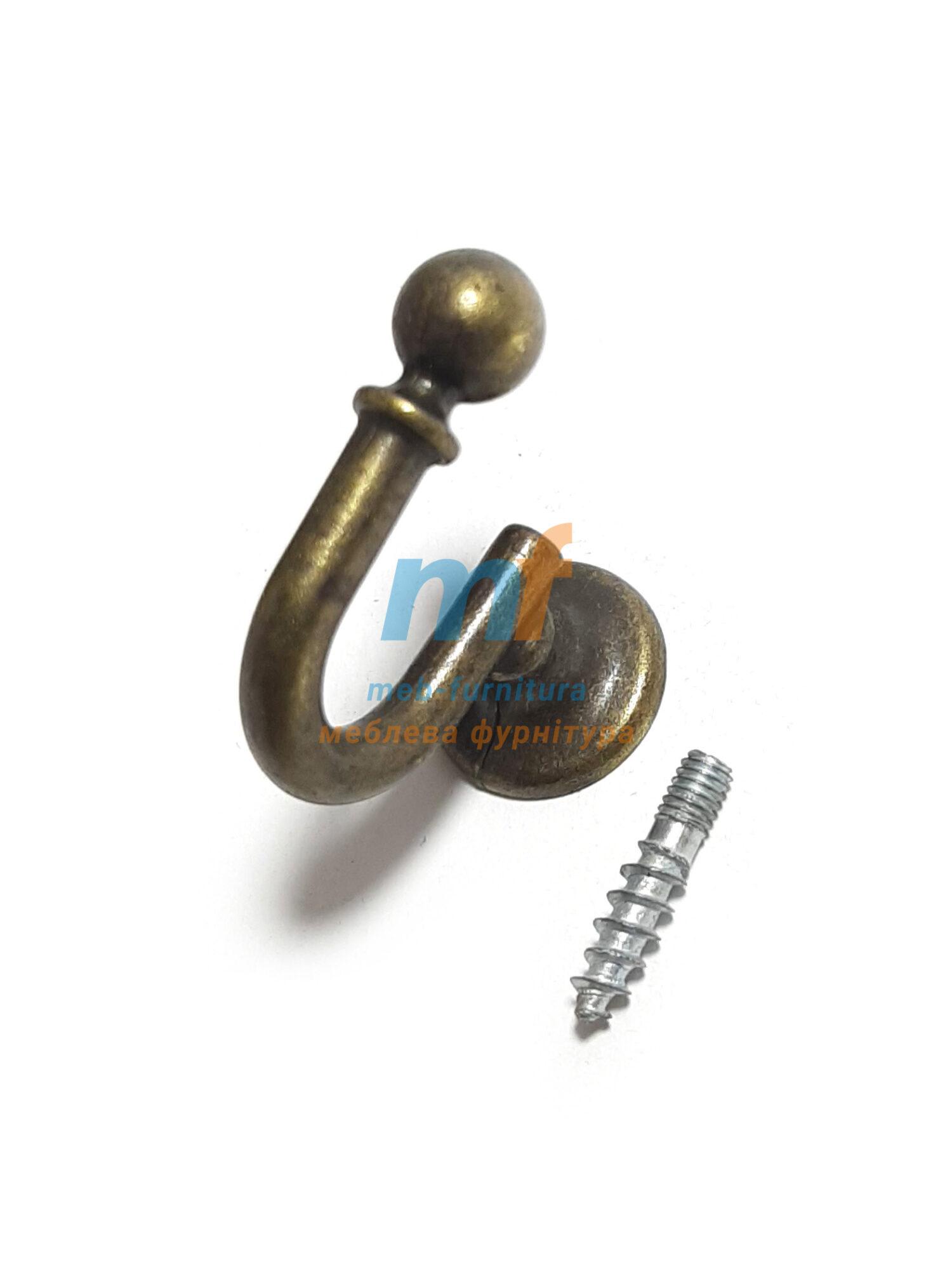 Крючок BONCUK маленький - бронза