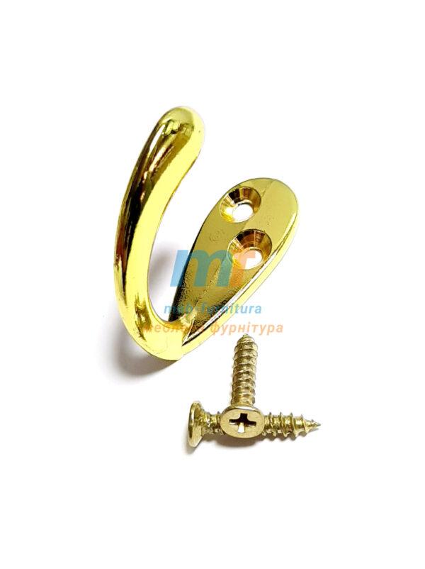 Крючок Коса дирка одинарный (Люкс)- золото