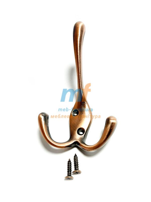 Крючок Косая дирка большая - коричневая