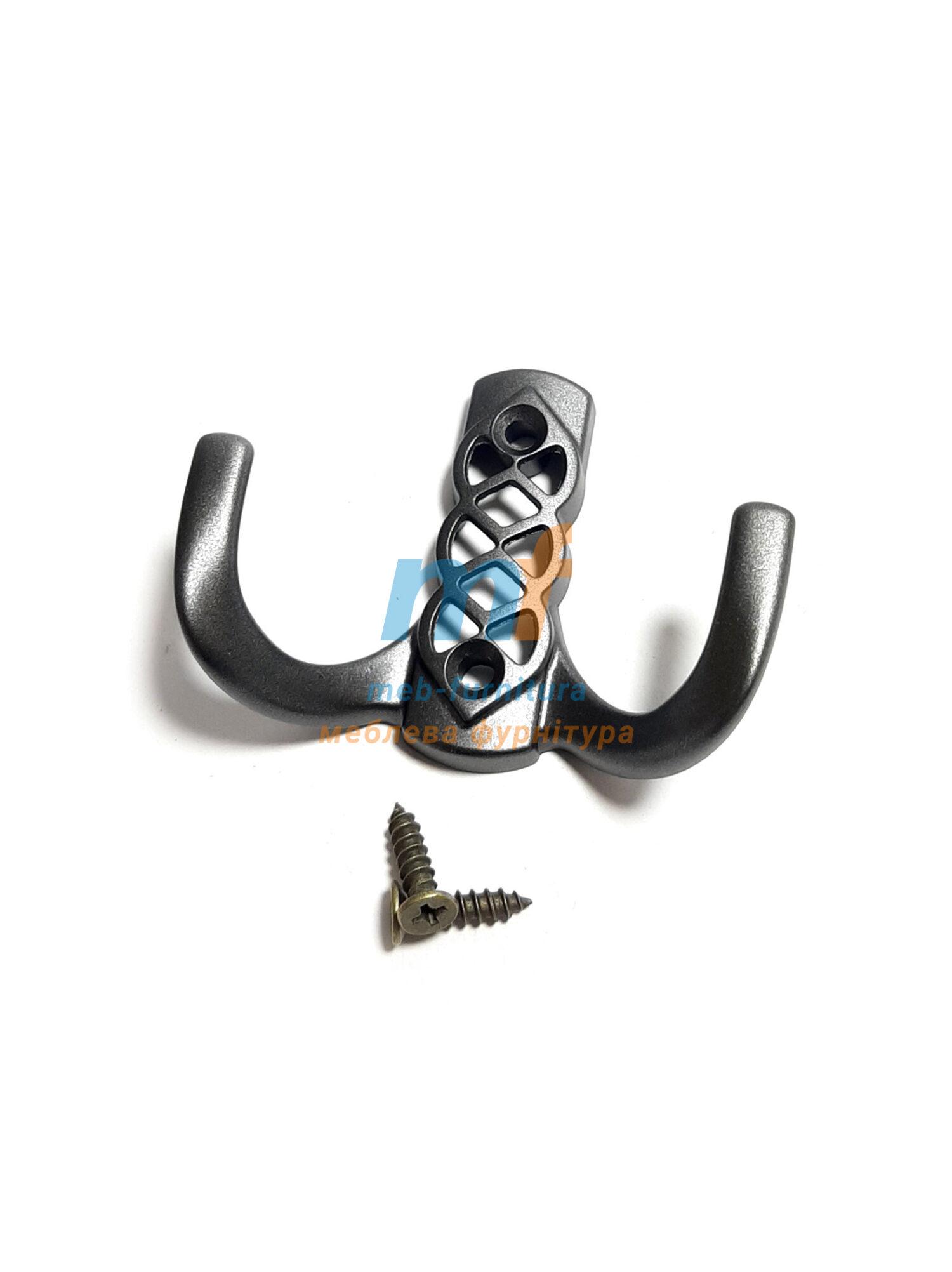 Крючок Косынка маленький (ЕКО) - черный