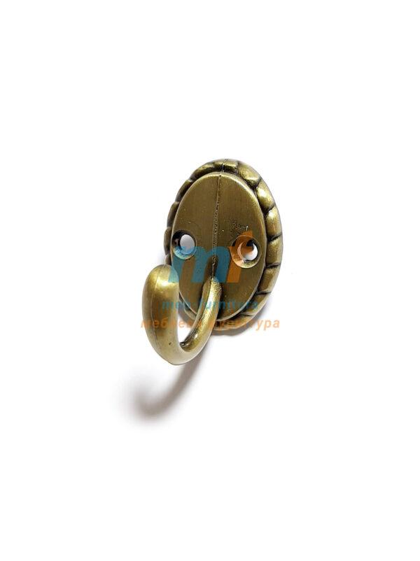 Крючок Ромашка маленький - бронза