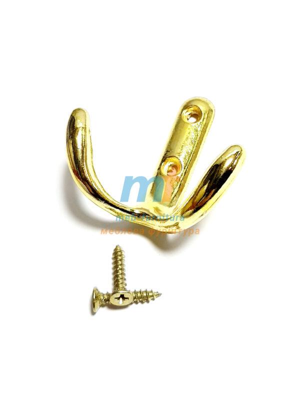 Крючок Якорь - золото