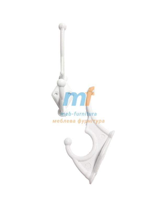 Крючок алюминиевый- белый
