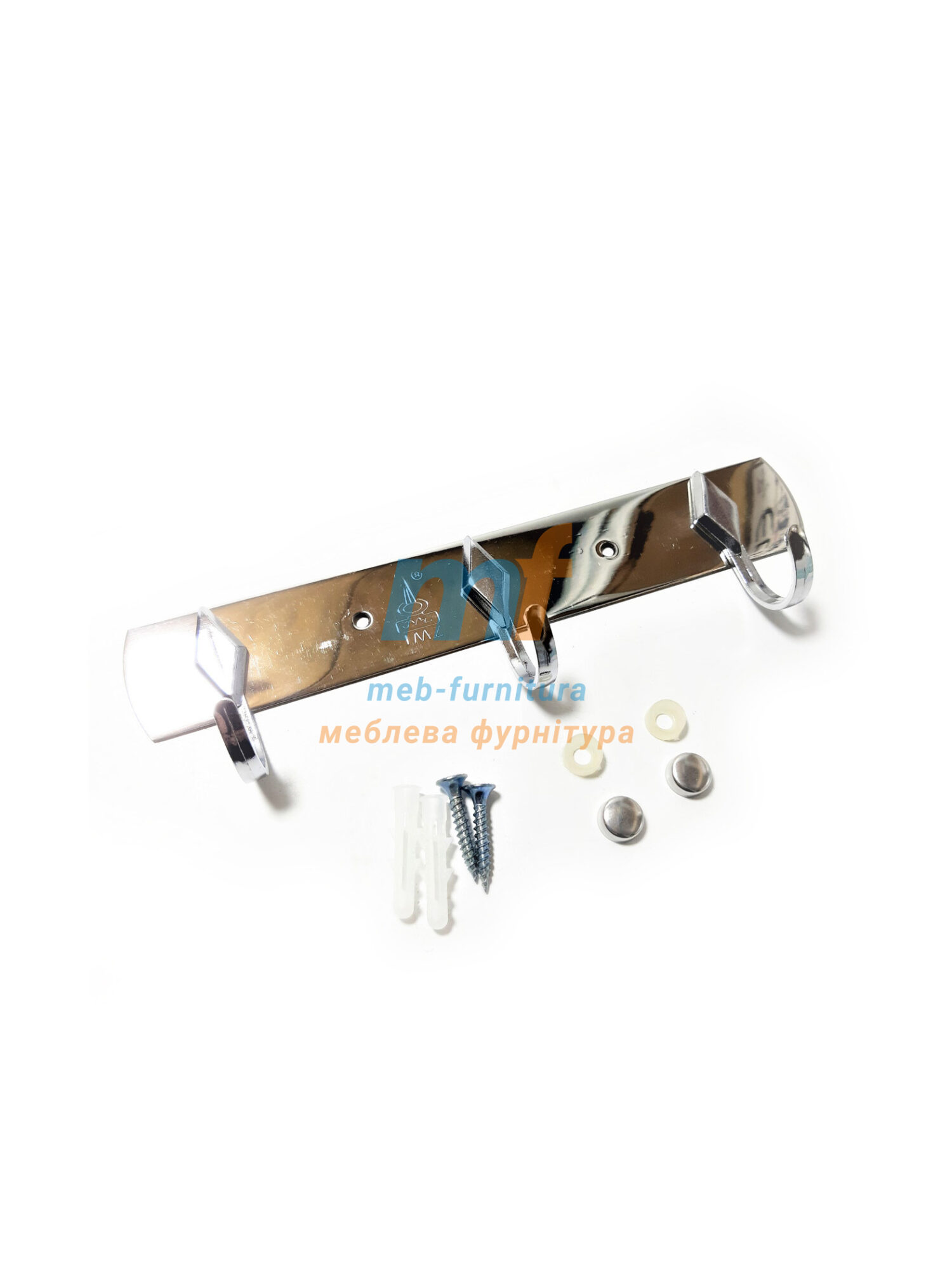 Крючок на планке Ромб 3-й - хром