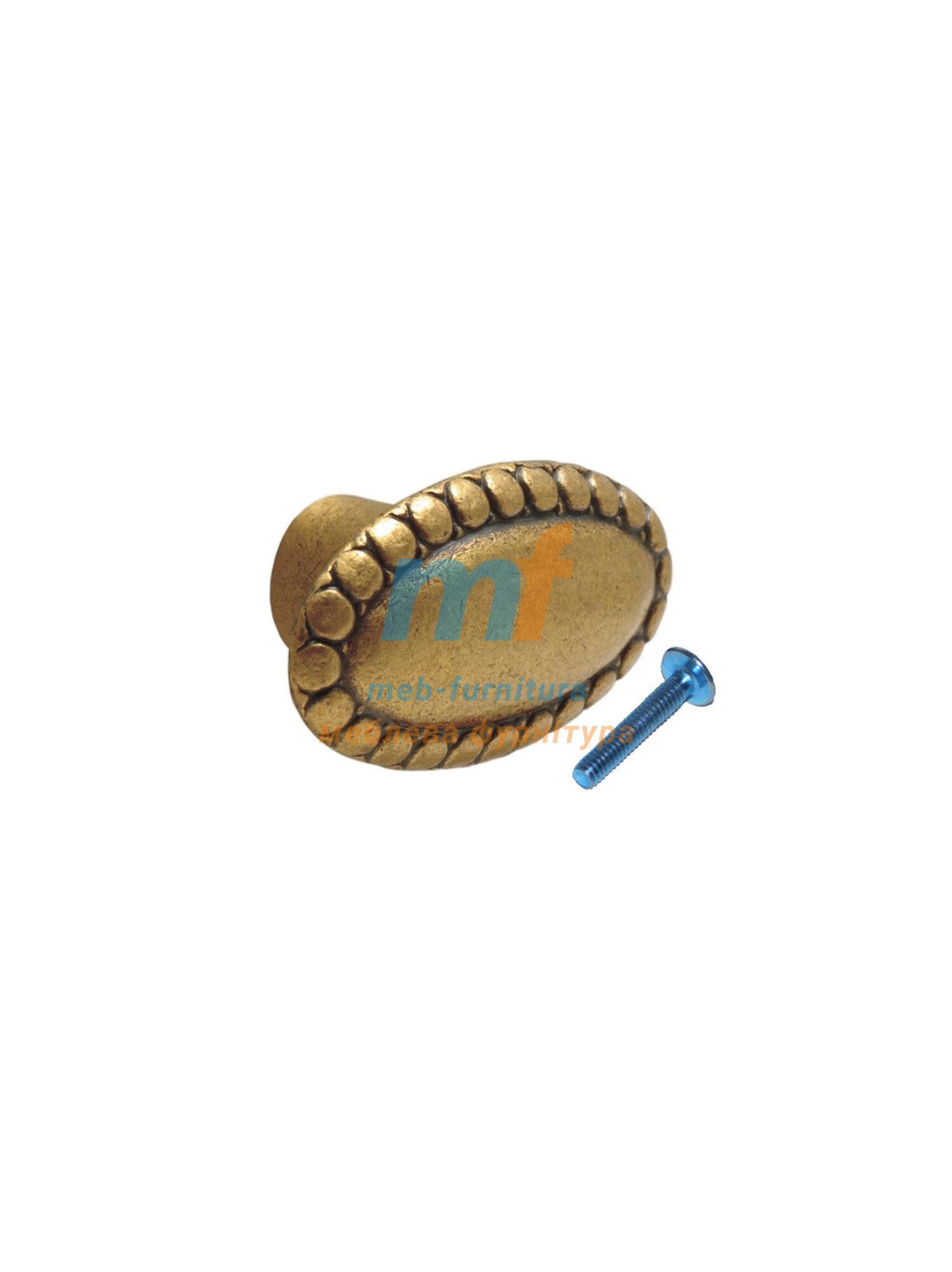 Мебельная ручка Кнопка 1-039 Бронза