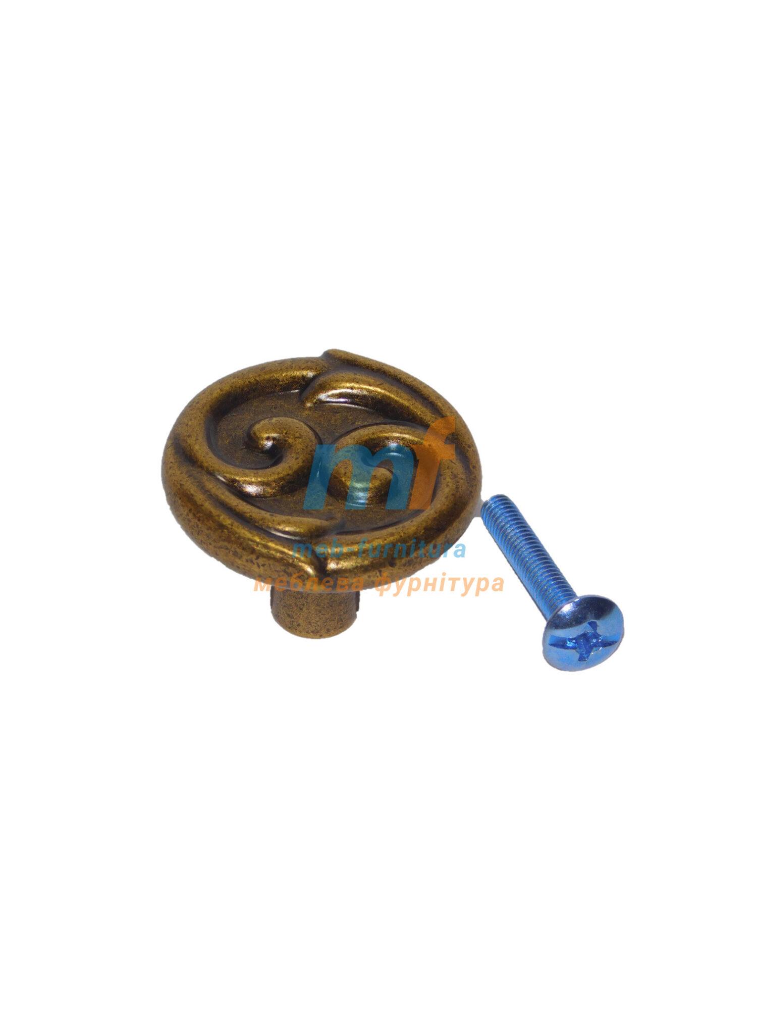 Мебельная ручка Кнопка- C26756 бронза