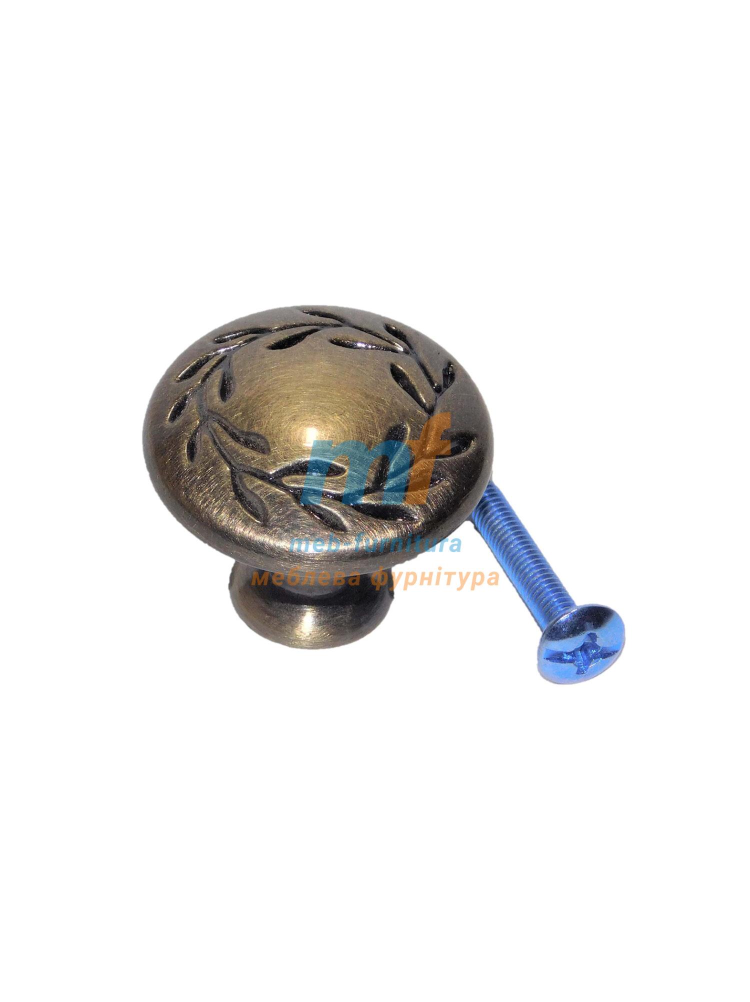 Мебельная ручка Кнопка- K103 G4 БРОНЗА