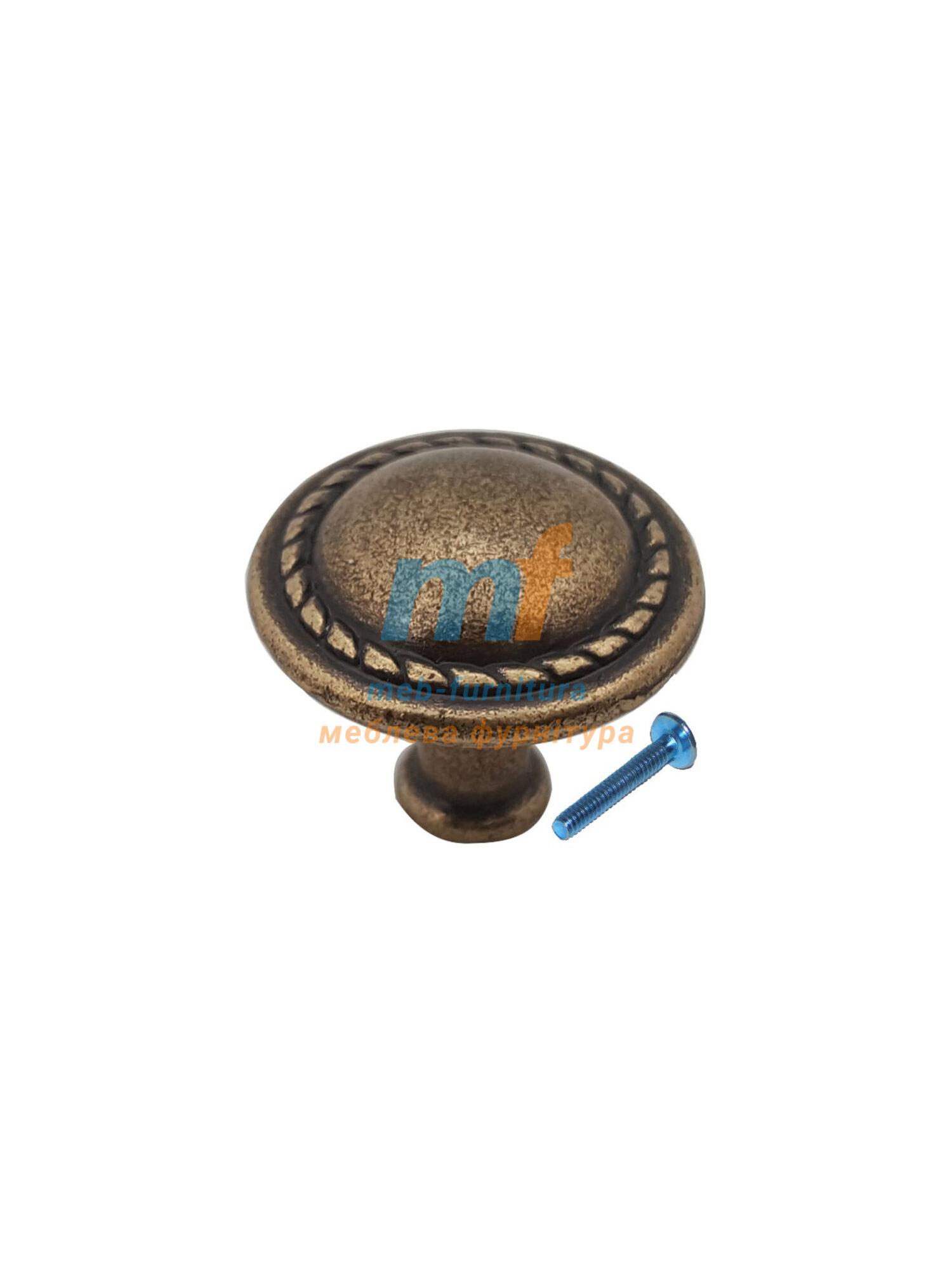 Мебельная ручка Кнопка-К8156 бронза