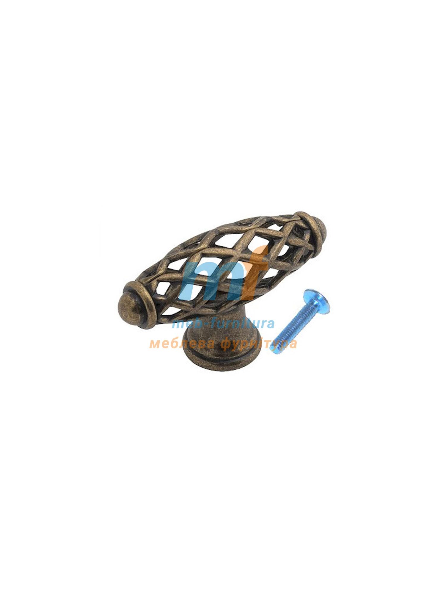 Мебельная ручка Кнопка - RUSTIK DUGME Бронза 6104-08