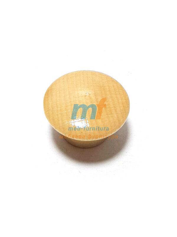 Мебельная ручка Кнопка деревянная Большая - 002