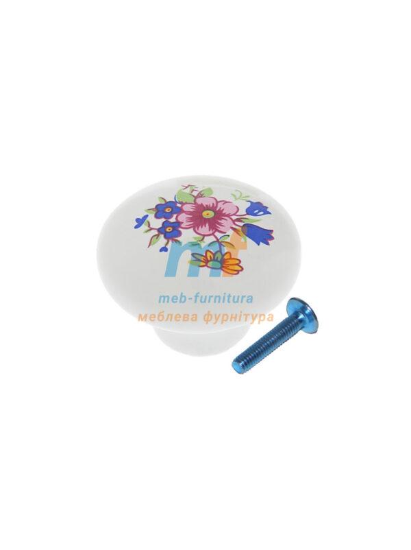 Мебельная ручка Кнопка фарфор DG 20 MLK1