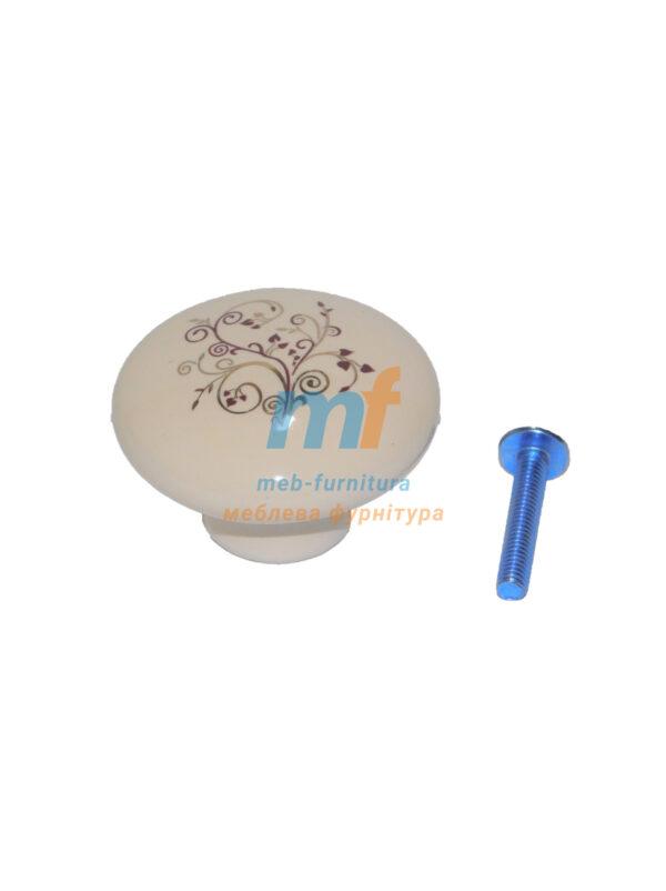 Мебельная ручка Кнопка фарфор DG 20 MLK16
