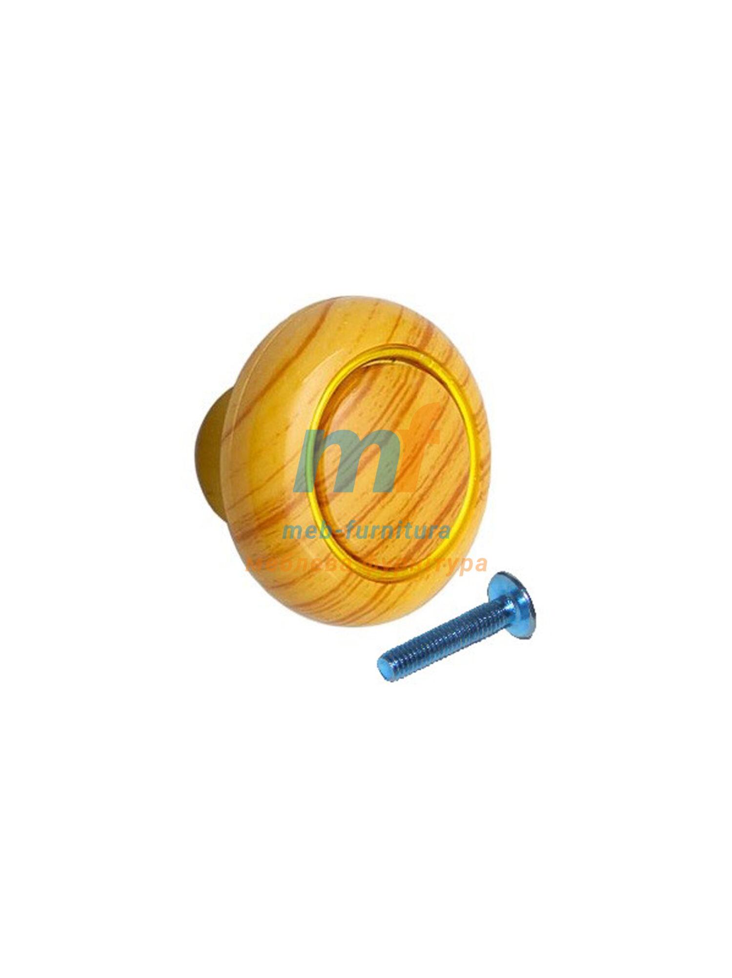 Мебельная ручка Кнопка кольцо- 601