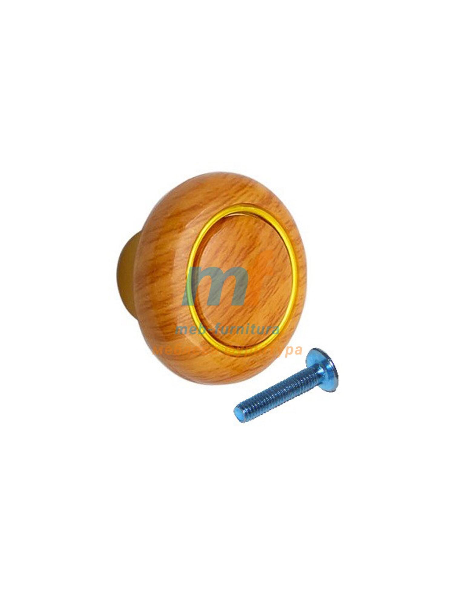Мебельная ручка -Кнопка кольцо- 603
