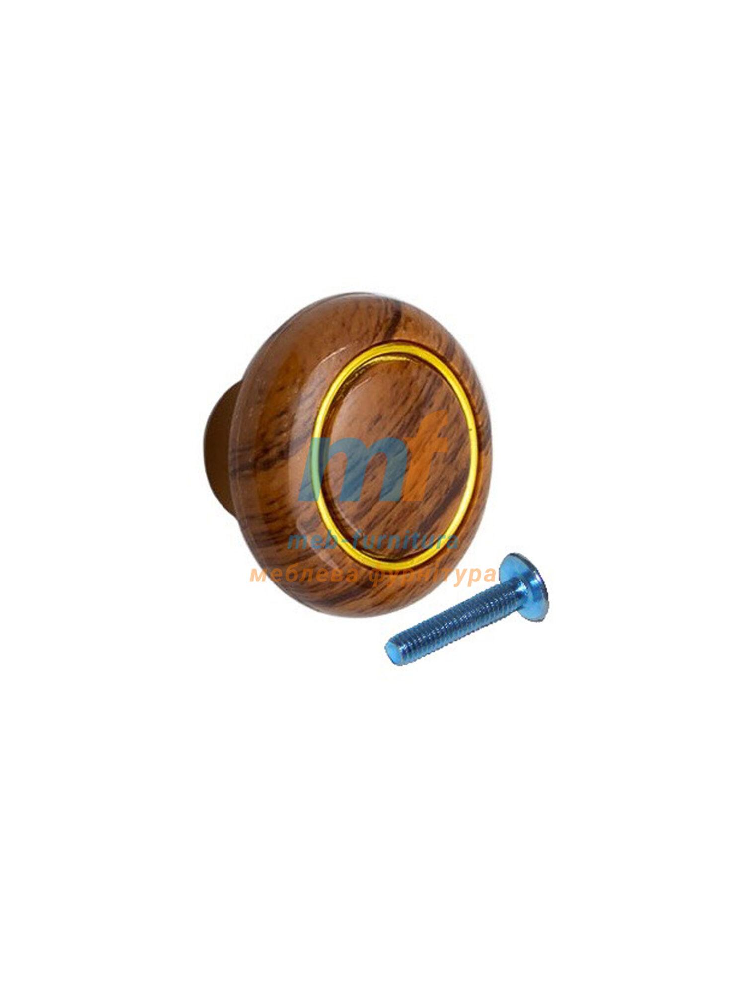 Мебельная ручка Кнопка кольцо- 604