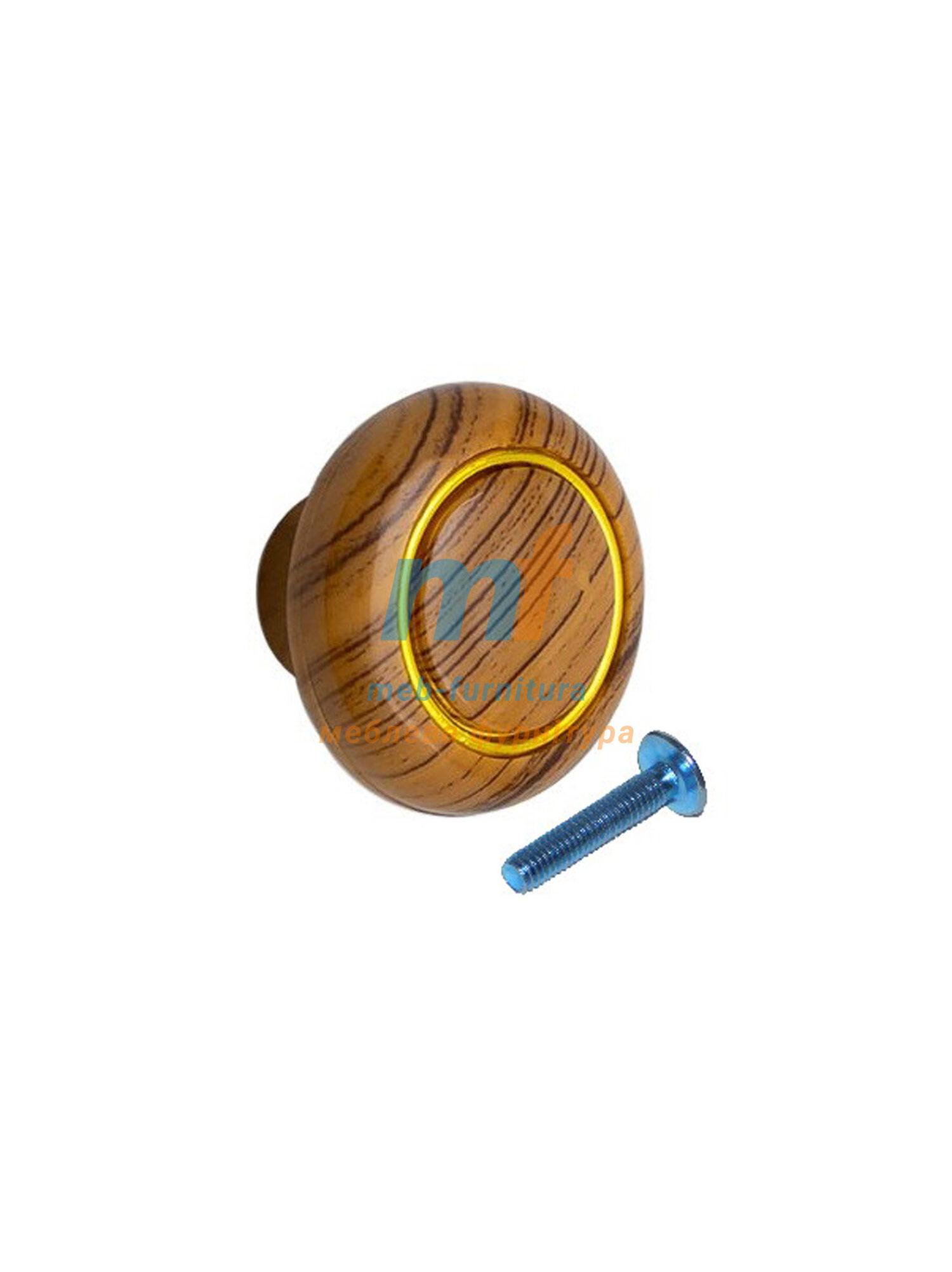 Мебельная ручка Кнопка кольцо- 606