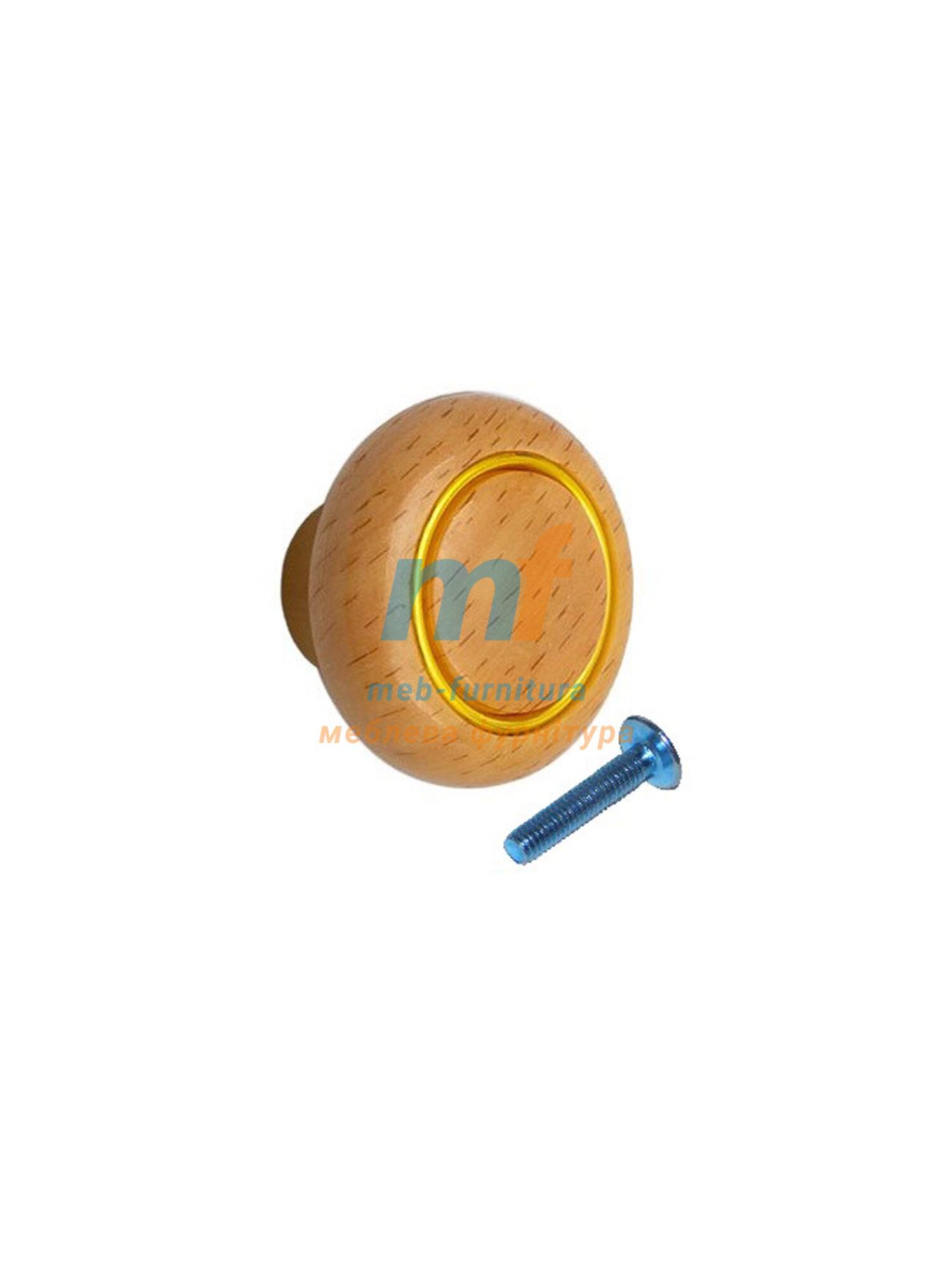 Мебельная ручка Кнопка кольцо- 608
