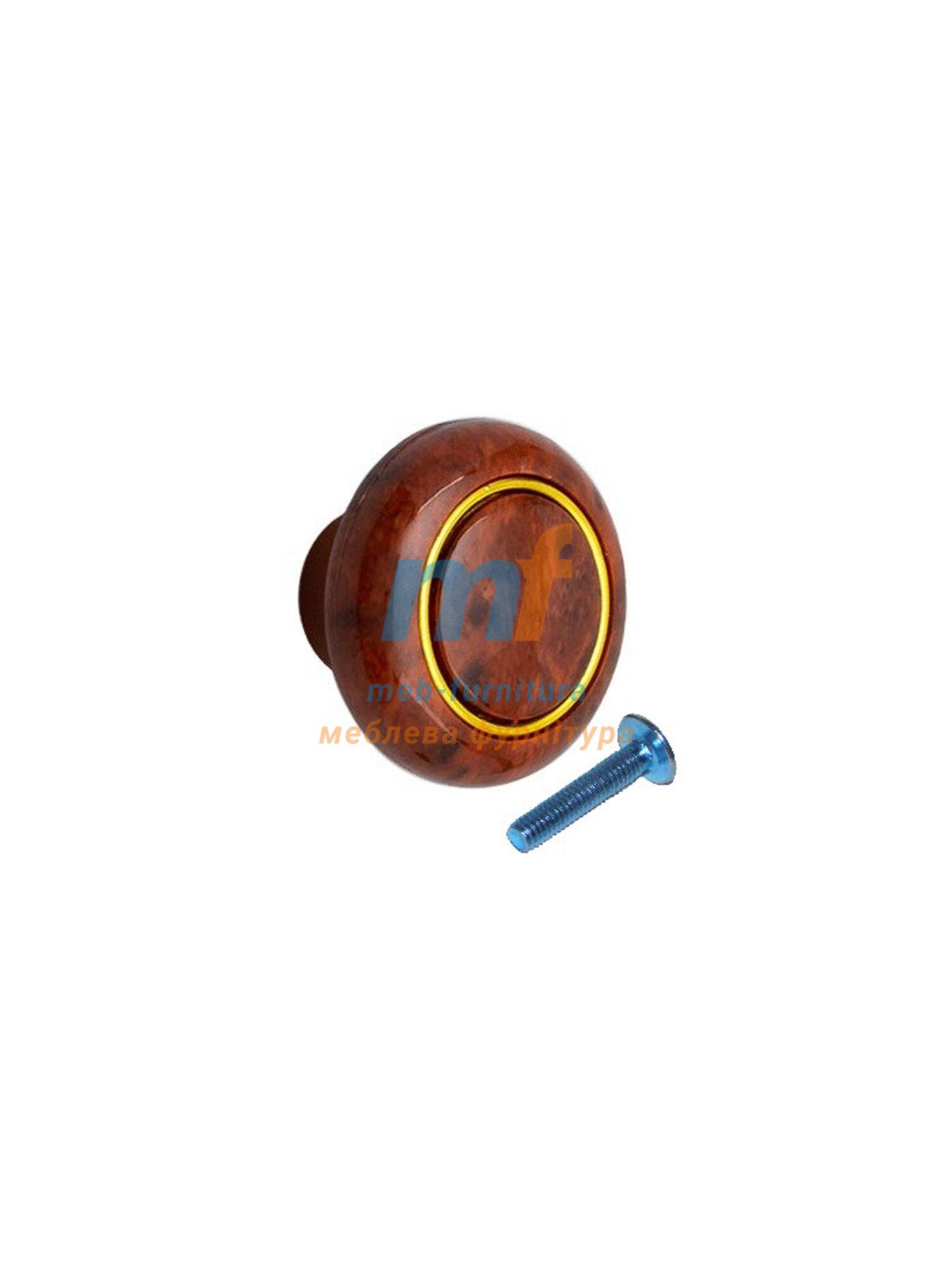 Мебельная ручка Кнопка кольцо- 609